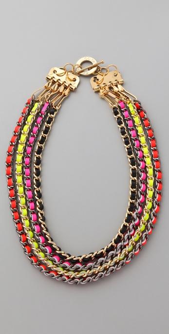 Cc Skye Neon Multi Chain Necklace Lyst