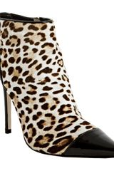Jimmy Choo  Print Pony Hair Bidder Ankle Boots in Brown - Lyst