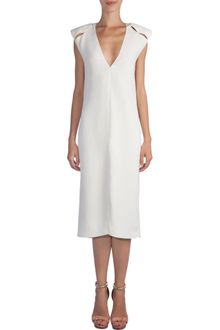 Lanvin Slit Shoulder Dress - Lyst