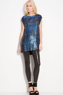 Pierre Balmain Sequined Zebra Stripe Tunic - Lyst