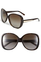 Burberry Oversized Oval Sunglasses - Lyst