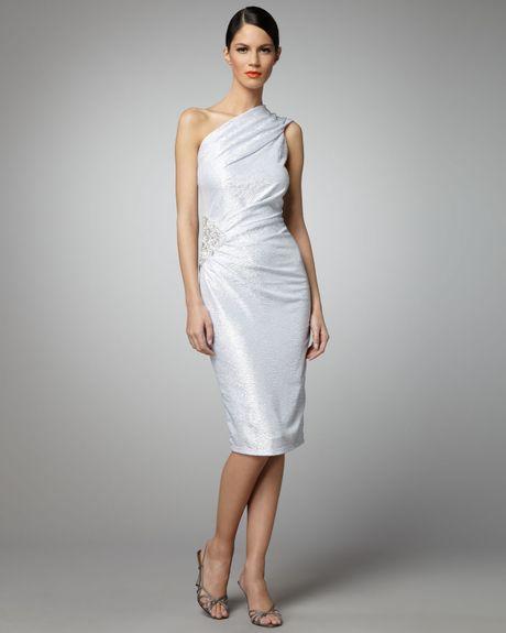Silver Metallic Dress Metallic Dress in Silver