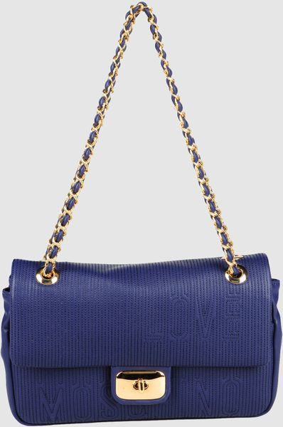 Love Moschino Medium Leather Bags in Blue - Lyst