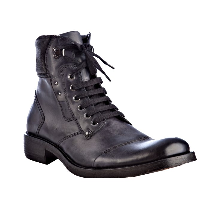 nason black leather fulton lace up work boots in