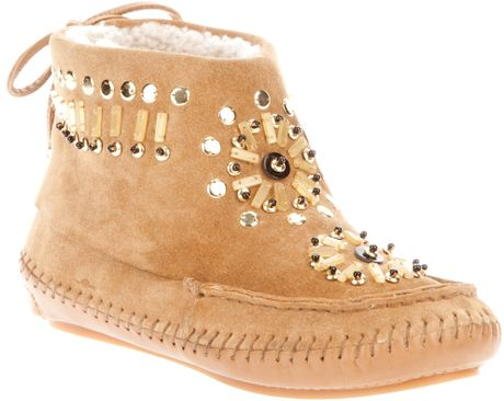 Tory Burch Zuzu Bootie in Brown