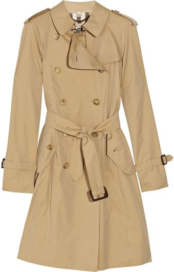 Burberry Cotton-twill Trench Coat - Lyst