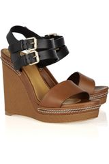 Chloé Leather Wedges - Lyst