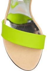 Diane Von Furstenberg Elan Leather and Rubber Wedges in Multicolor (green) - Lyst