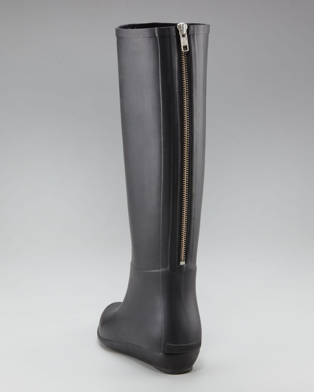 Loeffler randall Back-zip Rain Boot in Black | Lyst