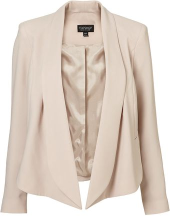 Topshop Seam Front Waterfall Jacket - Lyst