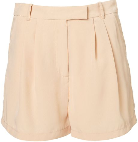 Topshop Coord Fluid Shorts in Pink (peach) - Lyst