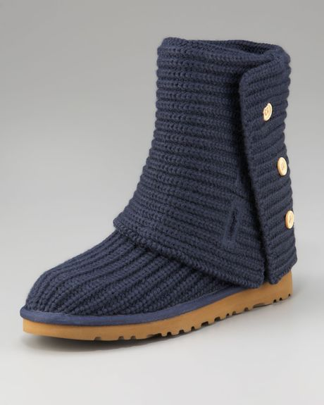 Ugg Classic Crochet Short Boot in Blue (navy) Lyst