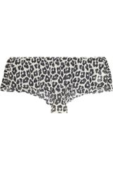 3.1 Phillip Lim Leopard-print Stretch-silk Chiffon Briefs - Lyst