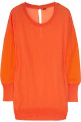 3.1 Phillip Lim Cotton and Stretch-silk Chiffon Sweater Dress - Lyst
