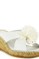 Andre Assous Rumba - White Leather Espadrille Wedge Sandal - Lyst