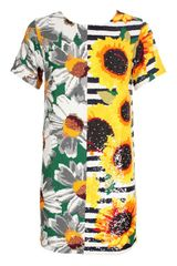 Ashish Floral Sequin T-shirt Dress - Lyst