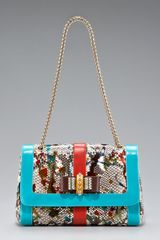 Christian Louboutin Sweet Charity Python Bag - Lyst