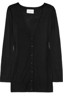 Crumpet Fine-knit Silk and Cashmere-blend Cardigan - Lyst