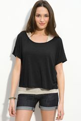 Frenchi® Scoop Neck Boxy Tee - Lyst