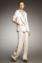 Lanvin Cuffed Satin Pants - Lyst