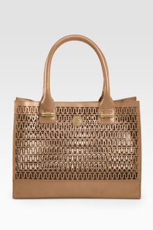 Tory Burch Georgiana Mini Tote Bag - Lyst