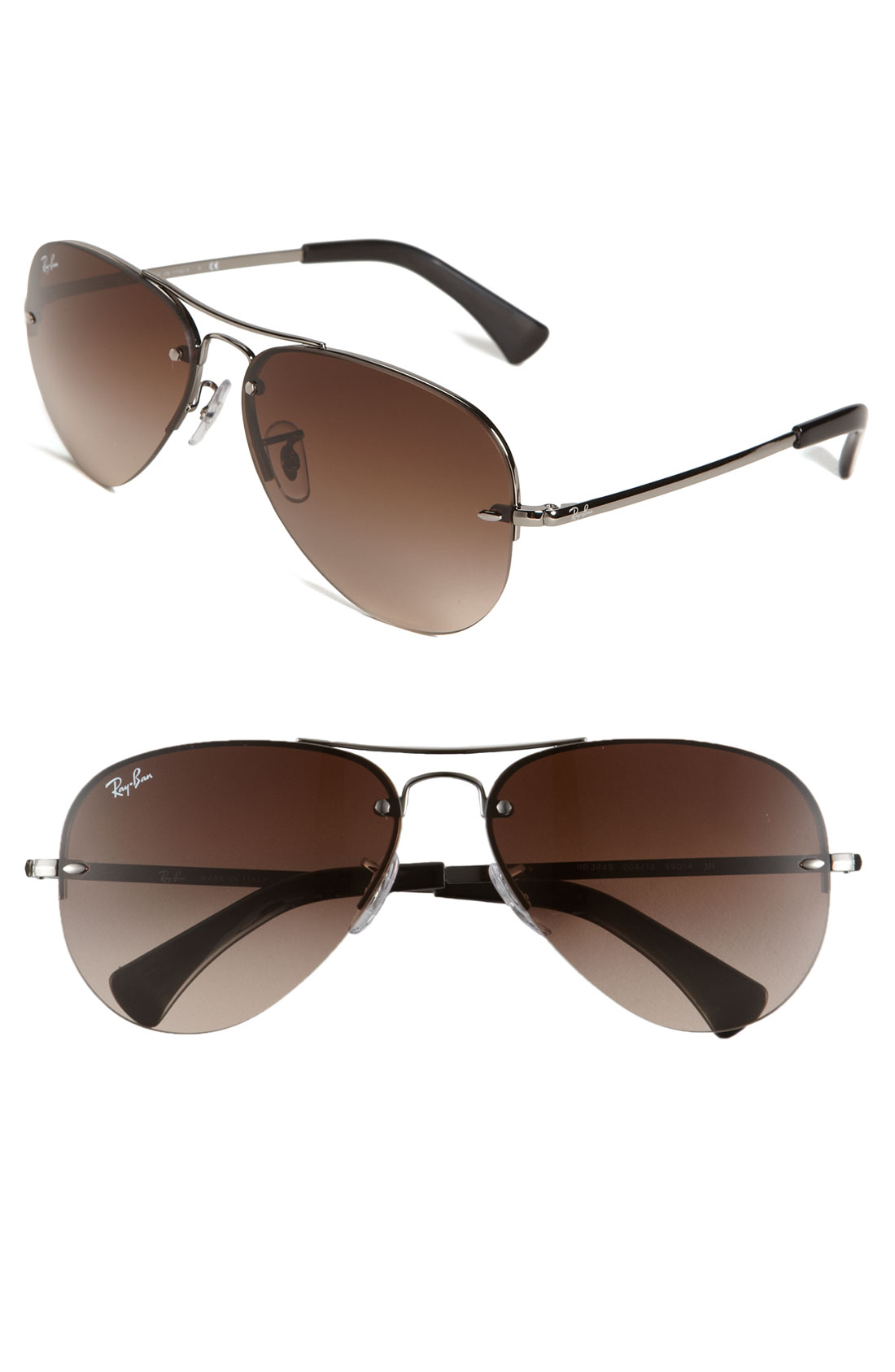 Rimless Aviator Eyeglass Frames : Ray Ban Rimless Aviator