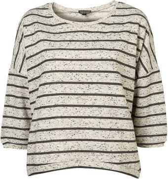 Topshop Speckle Stripe Sweat - Lyst