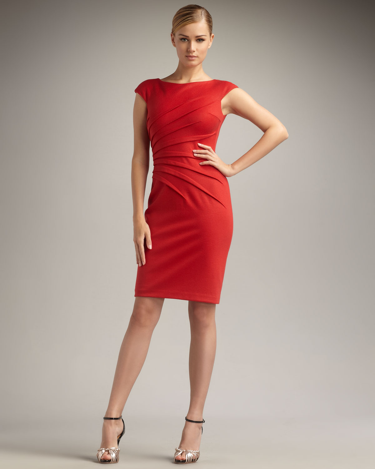 David Meister Red Dress