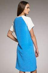 Derek Lam Colorblock Sheath Dress in Blue (muslin vivid blue) - Lyst