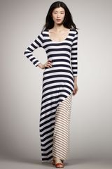 Ella Moss Contrast Striped Maxi Dress - Lyst