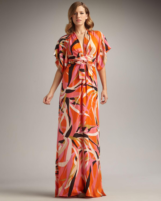 Short Orange Maxi Dress