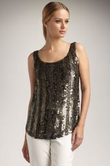 Lafayette 148 New York Sequined Bias Tank - Lyst