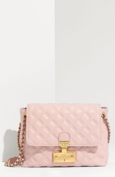 Marc Jacobs Baroque  Large Lambskin Leather Shoulder Bag in Pink (blush) - Lyst