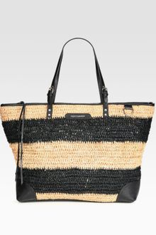 Rebecca Minkoff Endless Love Straw & Leather Tote Bag - Lyst