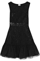 RED Valentino Sequin-Embellished Tulle Dress - Lyst