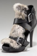 Ash Exclusive Rabbit Fur Sandal - Lyst