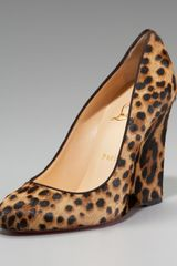 Christian Louboutin Ron Ron Calf Hair Wedge Pump - Lyst