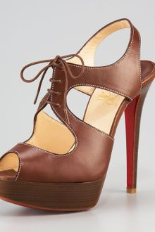 Christian Louboutin Serena Lace-up Sandal - Lyst