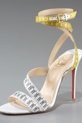Christian Louboutin Measuring Tape Sandal - Lyst