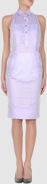 Dsquared2 Dsquared2  Short Dresses in Purple (lilac) - Lyst