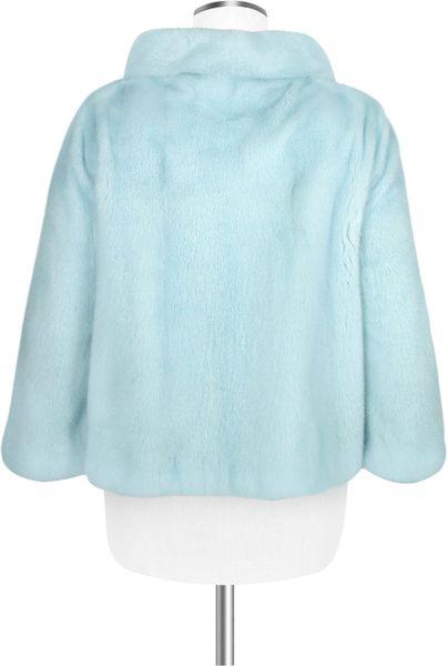 Forzieri Light Blue Mink Fur Two Button Jacket In Blue Lyst