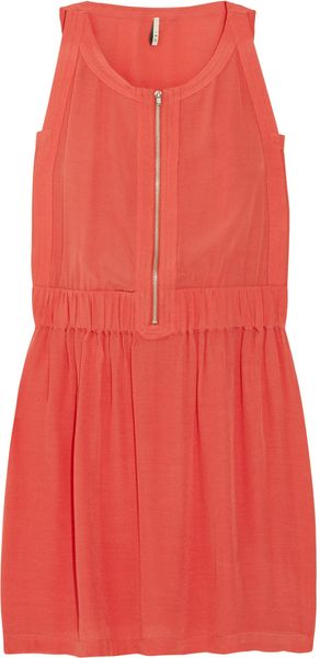 Iro Buena Zip-front Crepe Dress - Lyst