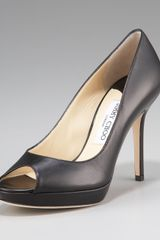 Jimmy Choo Peep-toe Platform Pump, Black - Lyst