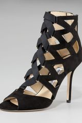 Jimmy Choo Strappy Lace-up Sandal - Lyst