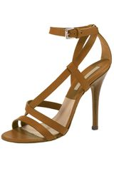 Michael Kors Strappy Opentoe Sandal in Brown - Lyst