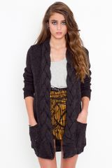 Nasty Gal Braided Knit Cardi - Lyst
