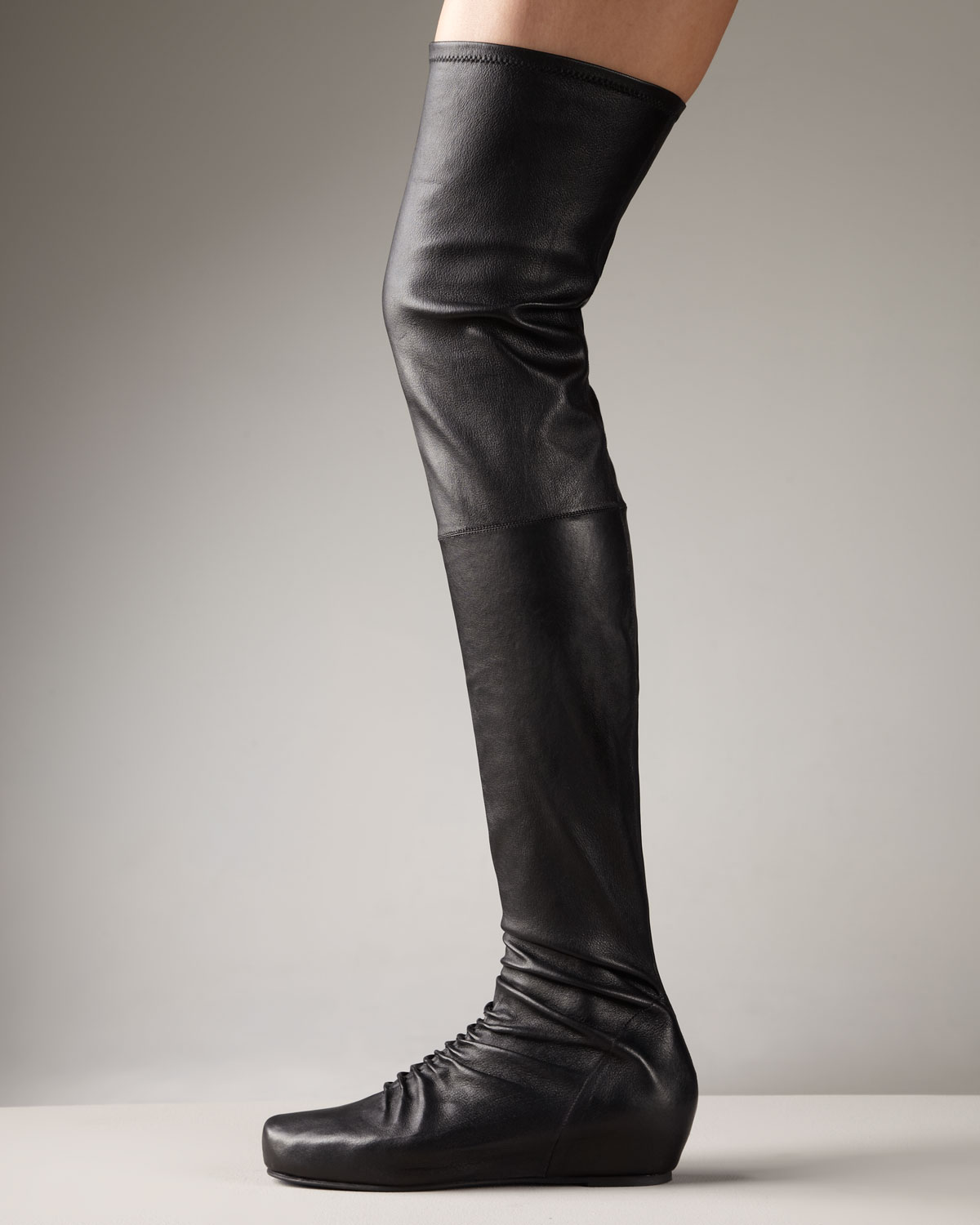 Rick owens Internal-wedge Over-the-knee Boot in Black