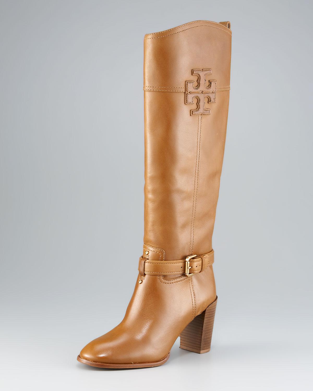 2ba625e5ee6126 Lyst - Tory Burch Blair Mid-Heel Boot in Brown
