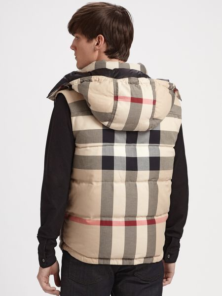 Burberry Brit Reversible Down Vest In Black For Men Lyst