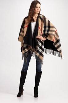 Burberry Reversible Cape - Lyst